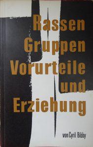 """Buchtitel """"Rassen, Gruppen, Vorurteile und Erziehung"""