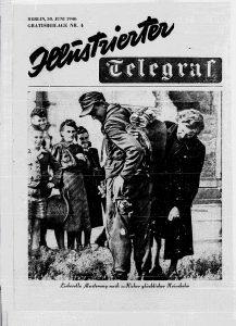 Titelblatt mit heimkehrenden Soldat und Frau
