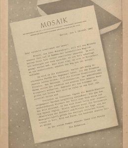 Abbildung Brief der Redaktion an die Leser