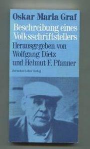 Buchtitel: Oskar Maria Graf. Beschreibung eines Volksschriftstellers