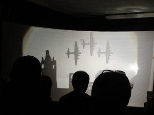 Shilouetten von Flugzeugen